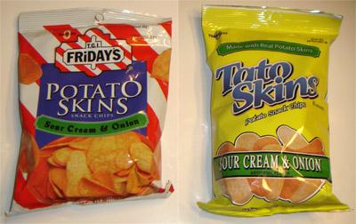 Potato Skins Chips Chips That Were Tato Skins