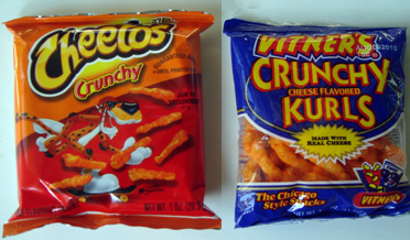 vintners sizzlin hot crunchy cheese flavored kurls
